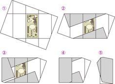 中包みの折り方 - 半紙を用いた折り方 -