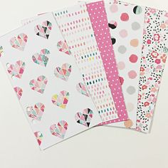 Set of 5 laminated and hole punched dividers for your pretty planner :)! SIZE:  Personal- Fits Websters Color Crush Personal ,Filofax Personal,
