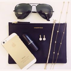 Black & gold everything. Gold Everything, Michael Kors Jet Set, Sterling Silver Jewelry, Black Gold, Pearls, Iphone, Friday, Bags, Jewellery