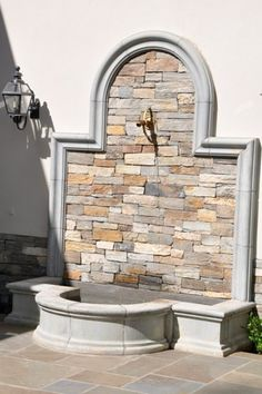 See our best selection of Indoor & Outdoor Water Fountains to reflect your style and inspire your outdoor space. Outdoor Wall Fountains, Garden Fountains, Outdoor Walls, Water Fountains, Outdoor Planters, Indoor Outdoor, Outdoor Water Features, Water Features In The Garden, Garden Sink