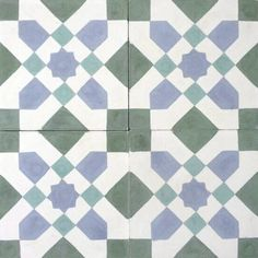 Victorian / Victoriano design, Authentic Hydraulic Andalusian Tiles for both the floor and wall. MOD-221.