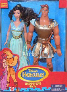 Disney dolls - Hercules and Megara dolls- Legend of Love Giftset from 1997