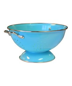 Look at this #zulilyfind! Turquoise 3-Qt. Colander by Reston Lloyd #zulilyfinds