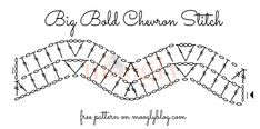 Learn how to crochet the Big Bold Chevron Stitch with this video tutorial and #crochet chart! From mooglyblog.com