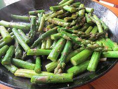fried green asparagus