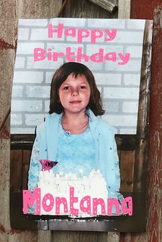 Custom Photo Print Banner Birthday Party Decor Granddaughter Daughter Son Granddaughter Best Friend Gift for Teen
