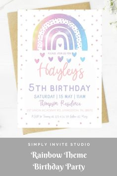 This Pastel Rainbow Glitter Birthday Party Invite is perfect for an any age girls' birthday party. This easy to edit birthday party invitation will be a great addition to your Colourful Pastel Rainbow Birthday Party Theme. Glitter Birthday Parties, Rainbow Birthday Party, Rainbow Theme, Girl Birthday, Diy Invitations, Birthday Party Invitations, Birthday Party Themes, Invite, Birthday Template