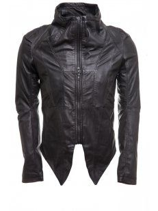 Delusion Hydropolis Leather Jacket Black £425