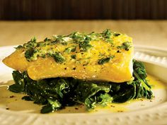 Poached smoked haddock with parsley & black pepper