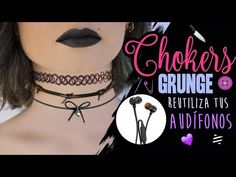 3 CHOKERS GRUNGE 😈 CON AUDÍFONOS DAÑADOS! - 3 grungy chokers with cords - YouTube