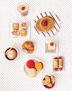 Red-and-Camel Dessert Buffet - Martha Stewart Weddings Inspiration