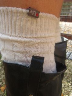 The Liv Flyford Socks worn with wellies for countryside chic!