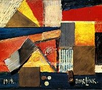 Burliuk, Collage, 1914. The Russian Museum, St. Petersburg