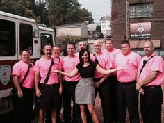 Members of Hagerstown, Maryland Local 1605 are wearing pink shirts for the entire month of October.Here they are being featured on HMTV6 with Raychel Harvey-Jones.