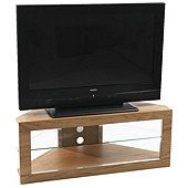 Iconic Lindi TX7000 Oak Corner TV Stand for screens up to 50 inch