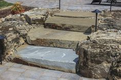Love these natural stone steps! The color is beautiful!