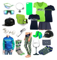 """""""I Want That Seahawks Fashion"""" by kier-mellour ❤ liked on Polyvore featuring Alex and Ani, Jagger Edge, DAVID DONAHUE, Neff, Strideline, Picnic Time, Cufflinks, Inc. and MICHAEL Michael Kors"""
