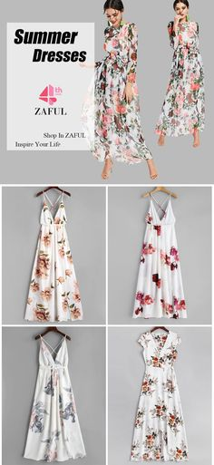 Happy Zaful 4th Anniversary! Explore Zaful's 4-year anniversary celebration, lots of deals, promotions on June 18th 2018. Inspire, Involve, Enjoy! Slit Floral Criss Cross Maxi Dress. With the vibrant colors, a bold floral print throughout and feminine details like a criss-cross design on the back that is finished with an adjustable tie around the waist and a slit detailing on the bottom, this maxi dress is the perfectly gorgeous piece from vacay to the party. #Zaful #Zaful4th #Dress