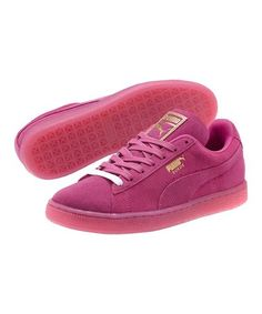 Another great find on #zulily! Rose Violet & Gold Suede Classic Iced Sneaker #zulilyfinds