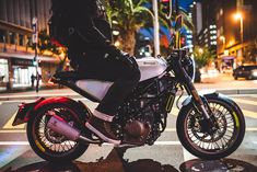 The middleweight motorcycle market has just received a huge jolt of excitement. The new Vitpilen and Svartpilen are in the showrooms now—but do they deliver a premium riding experience to match the premium price? Honda Grom, Cafe Bike, Luggage Rack, Motor Scooters, Motorcycle Bike, Cool Bikes, Bmx, Ducati, Cars And Motorcycles
