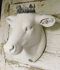 Faux Cow HeadFaux TaxidermyFrench Country by ColorfulCastAndCrew