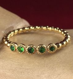925 Sterling Silver Emerald Filigree Wedding Band TIR5069GG|We combine shipping|No Question Refunds|Bid $60 for free shipping. Starting at $1