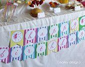 "Printable Fairy Party ""Happy Birthday"" Banner"