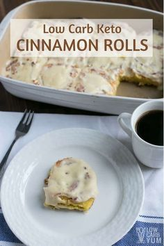 It's simple to make keto cinnamon rolls using coconut flour fathead dough. Serve them warm with melted cream cheese icing on top. They are a heavenly treat any time of day. #keto #lowcarb #ketorecipes | LowCarbYum.com via @lowcarbyum
