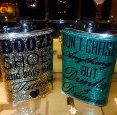 Wine Flask - Your Recommendations On Wine Can Be Found Down Below Cigar Box Wedding, Wedding Favors, Bridesmaid Boxes, Bridesmaids, Glitter Wine Glasses, Make Your Own Wine, Funny Cups, Personalized Wine Glasses