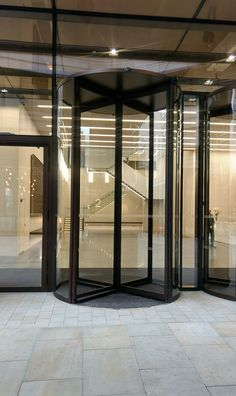 High Revolving Door that EA Group supplied and installed at St James' Market in London