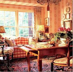 French Country Kitchen, mom sofa upholstery ideas buffalo check fabric, mom kitchen, antique French table mom