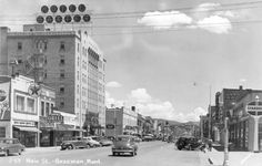 Downtown Bozeman, Montana Hotel Baxter 1940's - Baxter Hotel, Bozeman.