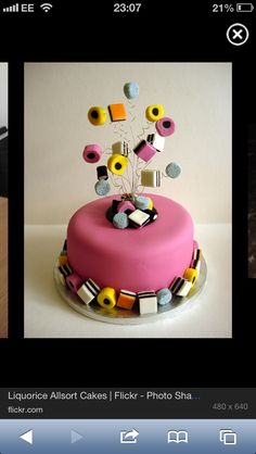 Liquorice Allsorts cake idea
