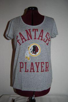 Victoria's Secret PINK NFL Washington Redskins Scoop T-Shirt Large L