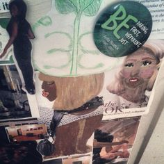 Vision board painted by Ebony