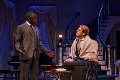 """From left to right: Kim Sullivan as Cal and Donald Carrier as Horace Giddens actors in the Cleveland Play House production of """"The Little Foxes"""" in the 2014-2015 season. © 2014 Roger Mastroianni #theatre #clevelandplayhouse #acting"""