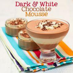 Dark and White Chocolate Mousse Parfait