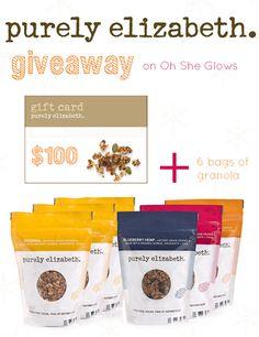 purelyelizabethgranolagiveaway   Giveaway: $100 gift card + 6 bags of Purely Elizabeth Granola!
