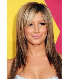 thin straight hair with side bangs - Google Search More