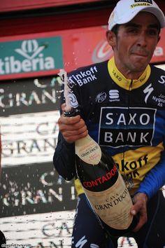 Your emotional new race leader, Alberto Contador (Saxo Bank-Tinkoff Bank)