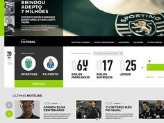 Sporting Clube de Portugal — website proposal by Jorge Olino