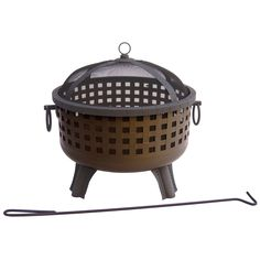 Have to have it. Landmann Garden Lights Savannah 28 .5 in. Round Fire Pit - Antique Bronze - $198 @hayneedle.com