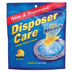 Summit Brands DP06N-PB Disposer Care Garbage Disposal Cleaner