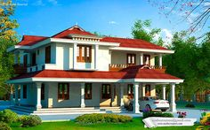 #KeralaHome in #Traditional Style @3212 Sq-ft Ground floor - 1788 sq.ft Porch Sit out Living Dining Common toilet Bedroom attached toilet and dress Kitchen Work area First floor (1329 sq.ft) Upper living 3 Bedroom attached Balcony Total : 3212 Sq.ft