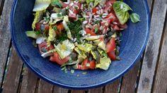 Tomatensalat mit Zitronenverbene