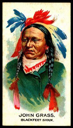 Cigarette Card - Indian Chief, John Grass
