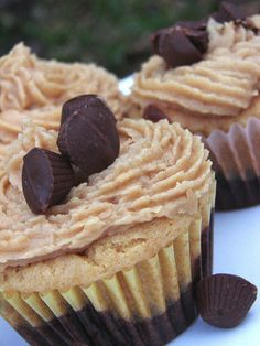 peanut butter brownie cupcakes - amazing!