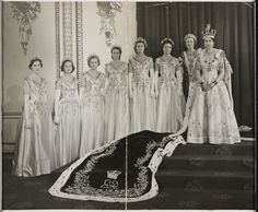 Queen Elizabeth II and her Maids of Honour, 1953