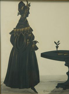 Exquisite Antique Silhouette of Mrs. Black from Bradshawgate and taken in 1825.Peggy McClard Antiques