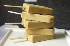 butterscotch pudding popsicles - yes, please! - popsicle recipe from smitten kitchen